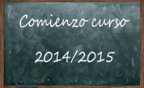 Inicio del curso 2014/2015